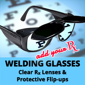 Welding Glasses with Rx Prescription Lenses